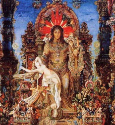 Jupiter and Semele by Gustave Moreau