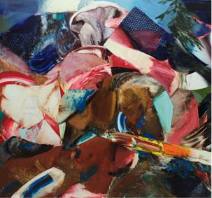 Adrian Ghenie, Rest During the Flight Into Egypt, 2016. Oil on canvas, 240 x 290.2 x 5.1 cm. Courtesy of Pace Gallery.